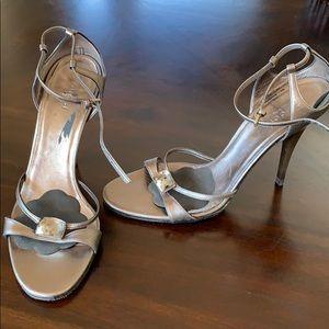 Gucci bronze stiletto sandals